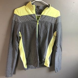 Neon yellow Justice jacket